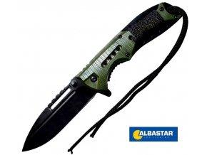 Albastar nůž vyhazovací Folding Knife Green Handle
