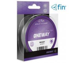 FIN šňůra One Way 125 m/šedá