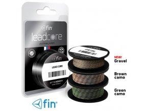 FIN Lead Core olověná šňůra 5 m/45 lbs  - kamufláž