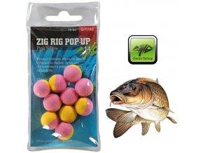Giants Fishing pěnové plovoucí boilie Zig Rig Pop-Up Pink/Yellow - 10 ks