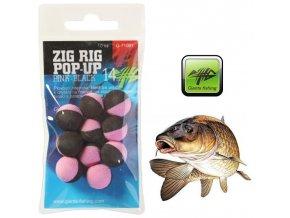 Giants Fishing pěnové plovoucí boilie Zig Rig Pop-Up Pink/Black - 10 ks