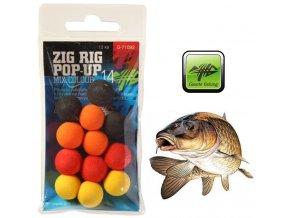 Giants Fishing pěnové plovoucí boilie Zig Rig Pop-Up Mix Color - 12 ks