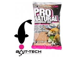 Bait-Tech krmítková směs Pro-Natural Dark Groundbait 1,5 kg