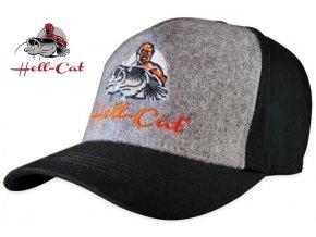 Hell-Cat kšiltovka Black/Grey s logem