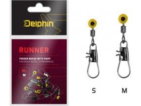 Feedrový bežec s karabinkou Delphin Runner - 10 ks