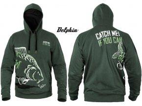 Rybářská mikina Delphin CATCH ME! Kapr