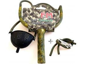 Rybářský prak Feeder Match Camu + náhradní gumy