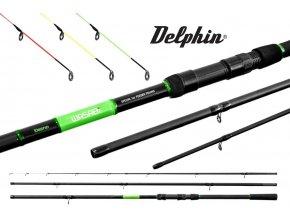 Prut Delphin WASABI Feeder 3 díly - 300, 330, 360 cm
