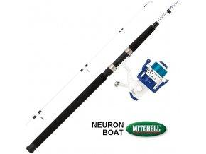 Sumcový prut s navijákem a vlascem Mitchell Neuron Set Boat 2,42 m/100-300 g