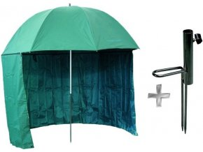 Carp System rybářský deštník s bočnicí PA 250 cm + zapichovací držák