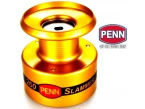 Náhradní kovové cívky na rybářské navijáky Penn Slammer II 260, 360, 460, 560 a 760.