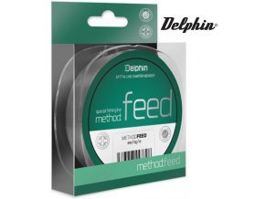Vlasec na feeder Delphin METHOD FEED šedý - 1 m