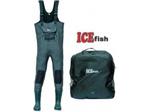 ICE Fish neoprénové brodící kalhoty - gumová podrážka