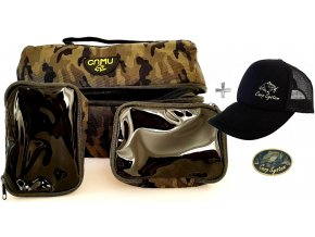 Carp System rybářská taška CCS 4205 + čepice