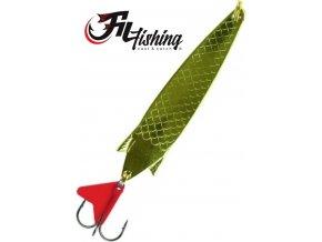 Filfishing Filex třpytka plandavka Arrow Spoon zlatá