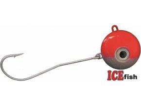 ICE Fish magická koule na mořský rybolov - stříbrno/červená
