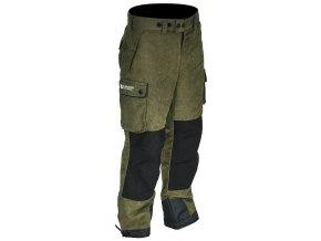 Nepromokavé membránové kalhoty Albastar s kapsami, kvalitní tkaninou v zeleno/černé barvě a moderním střihem. Vhodné pro rybáře a myslivce.