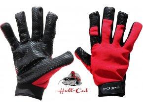 Hell-Cat rukavice na sumce černo-červené