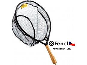 Fencl muškařský podběrák King 2 M Nature s pogumovanou sítí