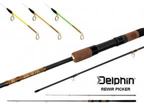 Prut Delphin REWIR Picker + 3 špičky