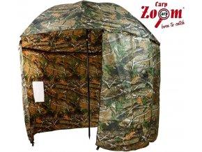 Carp Zoom deštník s bočnicí Umbrella Shelter Camou 250 cm