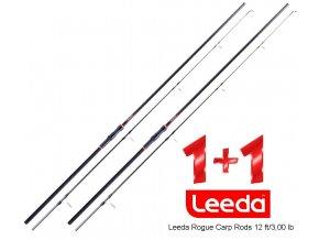 Leeda prut Rogue Carp Rods 12 ft/3,00 lb - AKCE 1+1