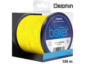 Delphin BOXER 4 sumcová šňůra fluo žlutá 150 m