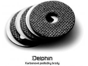 Karbonové podložky brzdy navijáku Delphin IXTREK / IXCELA - 3 ks