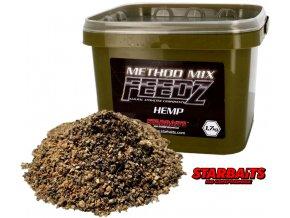 Starbaits Method Mix FEEDZ Hemp (konopí) 1,7 kg