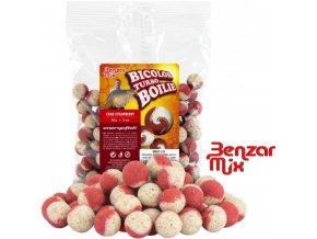 Benzar Mix Bicolor Turbo boilies Crab-Strawberry 250 g