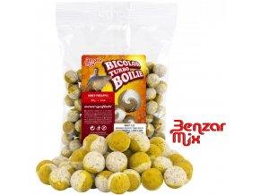 Benzar Mix Bicolor Turbo boilies Honey-Pineapple 250 g