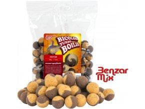 Benzar Mix Bicolor Turbo boilies Fish-Plum 250 g