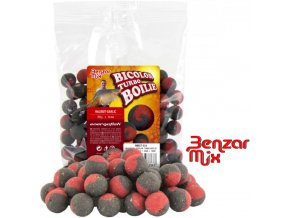 Benzar Mix Bicolor Turbo boilies Halibut-Garlic 250 g