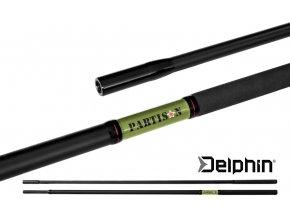 Podběráková rukojeť Delphin PARTISAN 180 cm/2 díl