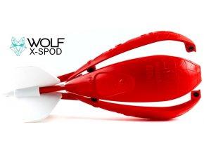 Zakrmovací raketa Wolf X-Spod Competition Red
