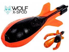 Zakrmovací raketa Wolf X-Spod Performance Orange/Black