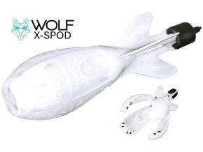 Zakrmovací raketa Wolf X Spod Performance White