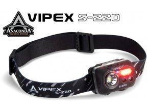 Anaconda Vipex S 220 Headlight čelová svítilna