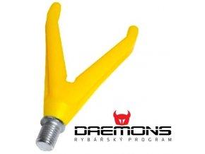 Daemons plastová přední rohatinka V žlutá