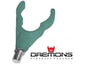 Daemons gumová zadní rohatinka Soft U zelená