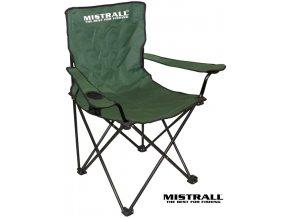 Mistrall rybářská židlička s područkami - zelená