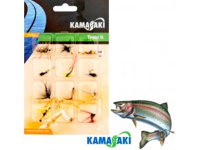 Mušky na pstruhy Kamasaki GS Fly Set 020 sada 12 ks