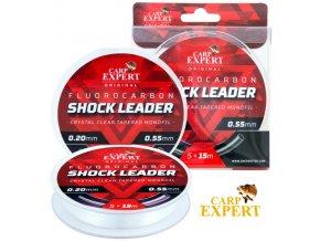 Carp Expert šokový vlasec Fluorocarbon Shock Leader 5 x 15 m