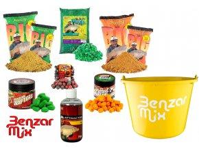 Benzar Mix set krmení Carp and Grass Carp Recipe - Kapr a Amur