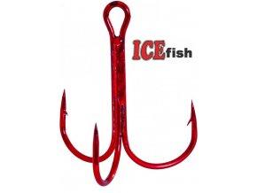 Trojháček ICE Fish červený