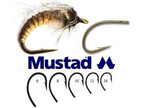Mustad muškařské háčky Egg Caddis Fly Hook C67S - 25 ks