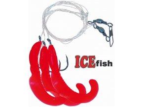 Návazec pro mořský rybolov ICE Fish úhořík A