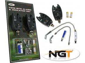 NGT sada hlásičů VX-2 Twin Bite Alarm & Indicator Set + baterie zdarma
