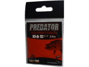 Sellior Predator wolframové lanka s obratlíkem a karabinkou - 2 ks