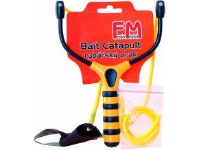 Rybářský prak Feeder Match CP + náhradní gumy a spojky